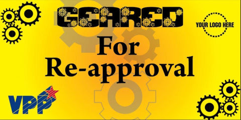 Geared For Re-Approval Banner - #403385B
