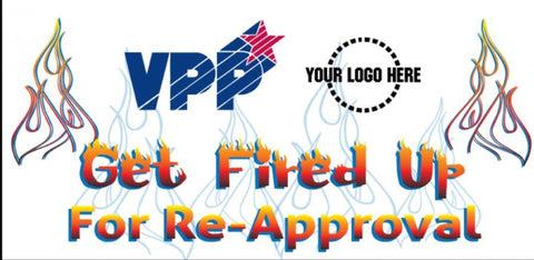 Get Fired Up Banner - #402929B