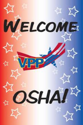 Welcome OSHA Stars & Stripes Poster - #403395P