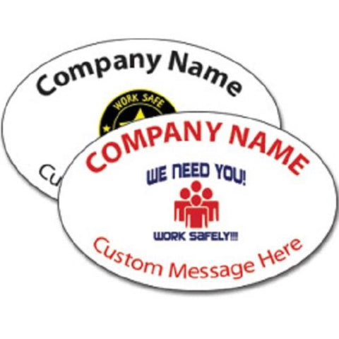 Oval Hard Hat Decal Full Color - #400387