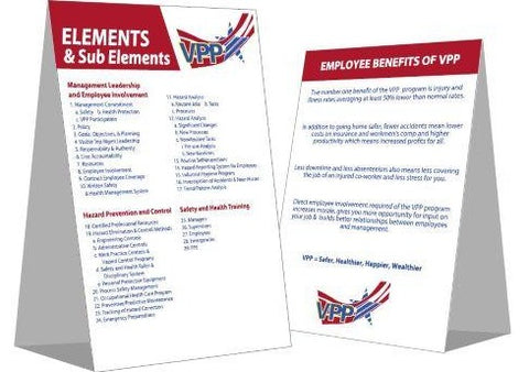 Elements and Employee Benefits of VPP Table Tent - #400390
