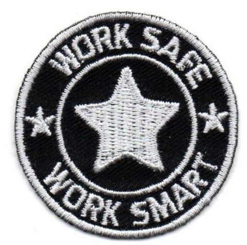 Embroidery Patch with Heat Seal Backing w/Work Safe Logo - #400535