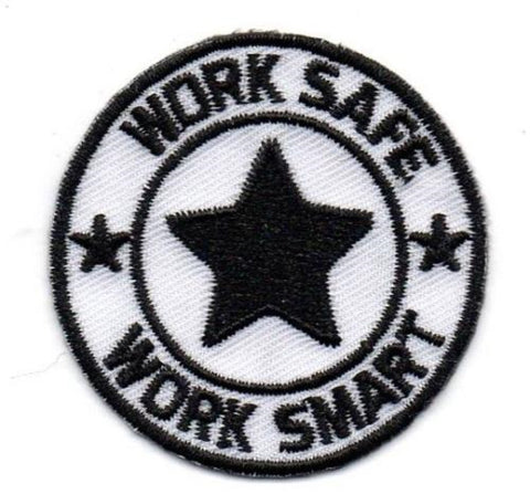 Embroidery Patch with Heat Seal Backing w/Work Safe Logo - #403061