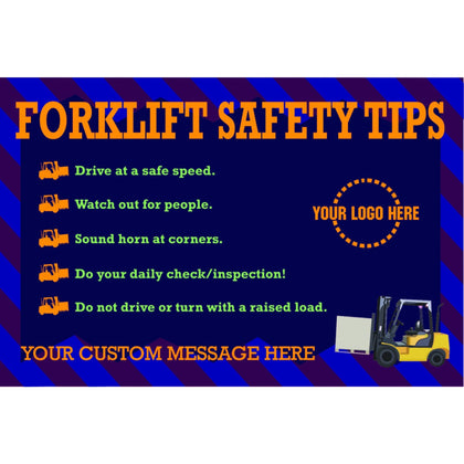 Forklift Safety Tips Banner - #400812B