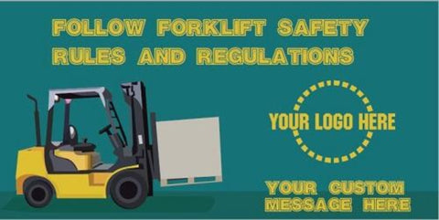 Follow Forklift Safety Banner - #400814B