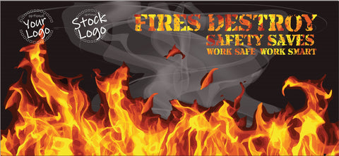 Fires Destroy Safety Saves Banner - #401096B