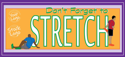 Stretching Figures Banner - #401097B