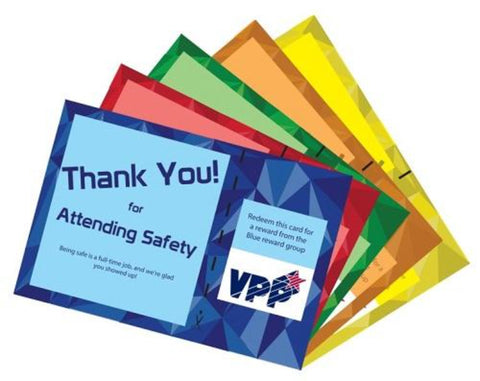Variety Safety Employee Engagement Program Deluxe Package Containing Cards and Prizes - #401975