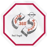 Octagon Hard Hat Decal Full Color - #402212