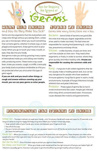 Tips For Stopping The Spread Of Germs Poster - #402789P