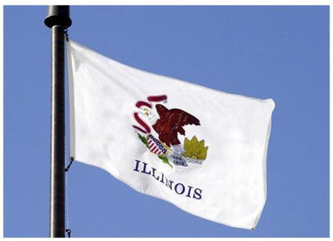 Illinois Outdoor State Flag - #402803