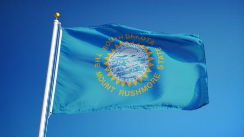 South Dakota Outdoor State Flag - #402831