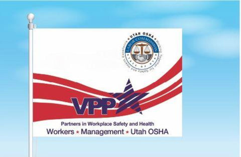 Utah VPP Star Worksite Flag 3'x5' Double Sided - #1155115