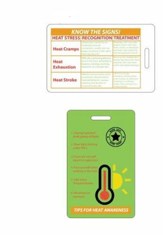 Heat Stress Recognition Badge w/Work Safe Logo - #402908
