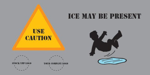 Slipping On Ice Banner - #402946B