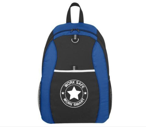 Sport Backpack w/Work Safe logo - #402959