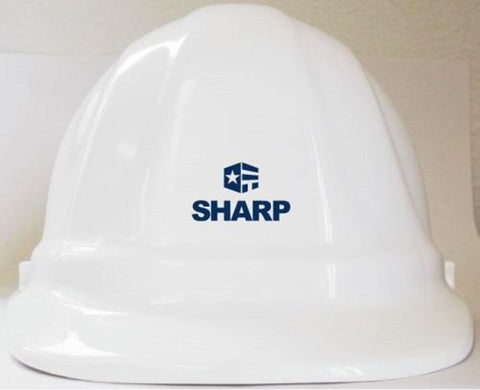 Omega II Hard Hat White w/SHARP Logo - #403005