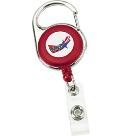 Carabiner Badge Holder Red w/OSHA Logo - #403008