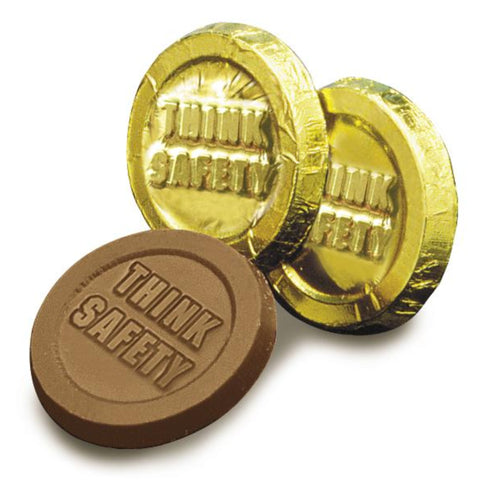Think Safety Chocolate Coin - #403232