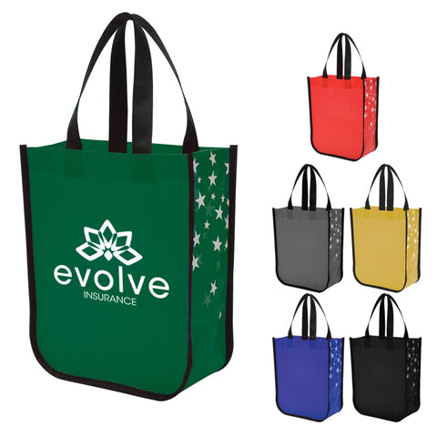 Star Struck Laminated Non-Woven Tote Bag - #403407