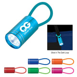 Glow In The Dark Aluminum LED Flashlight - #403416