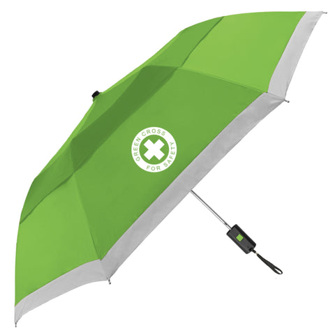 Vented Lifesaver Reflective Folding Safety Umbrella - #400196