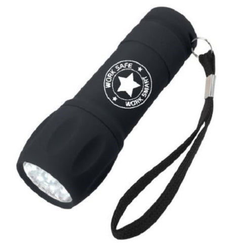 Rubberized Torch Light w/Work Safe Logo - #401301