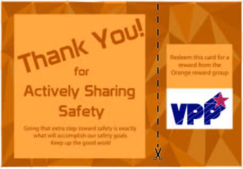Actively Sharing Safety Employee Engagement Program Economy Package Containing Cards and Prizes - #401966