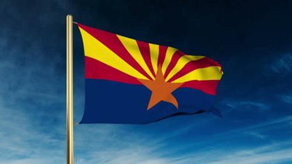 Arizona Outdoor State Flag - #402793