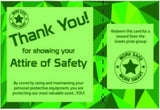 Attire of Safety Employee Engagement Program Deluxe Package Containing Cards and Prizes - #401969