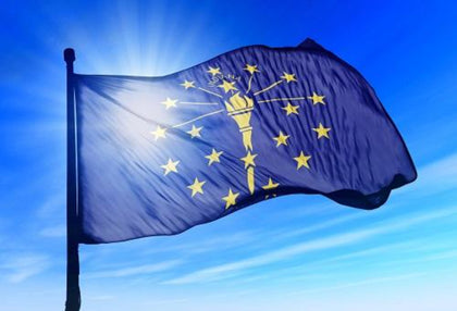 Indiana Outdoor State Flag - #402804