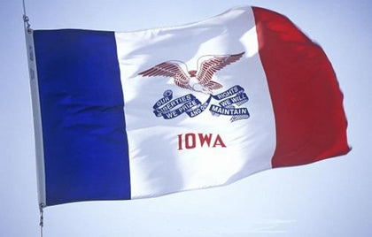 Iowa Outdoor State Flag - #402805