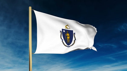 Massachusetts Outdoor State Flag - #402811