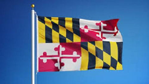 Maryland Outdoor State Flag - #402810