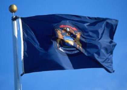 Michigan Outdoor State Flag - #402812