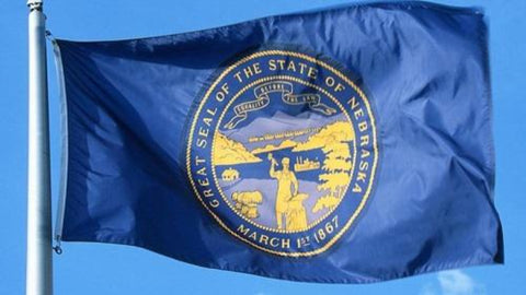 Nebraska Outdoor State Flag - #402817