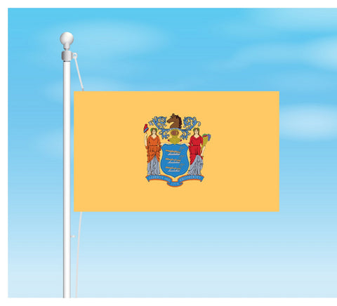 New Jersey Outdoor State Flag - #402820