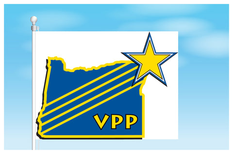 Oregon VPP Star Worksite Flag 3'x5' Double Sided - #1157998