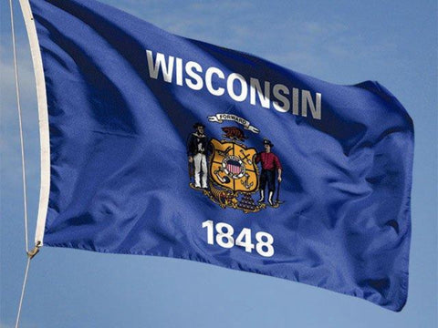Wisconsin Outdoor State Flag - #402839