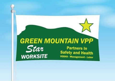 Vermont VPP Star Worksite Flag 3'x5' Double Sided - #402863