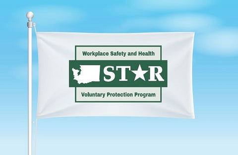 Washington VPP Star Worksite Flag 3'x5' Double Sided - #1153146