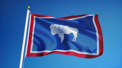 Wyoming Outdoor State Flag - #402840