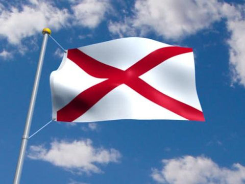 Alabama Outdoor State Flag - #402786