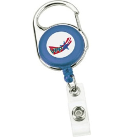 Carabiner Badge Holder Blue w/OSHA Logo - #403007