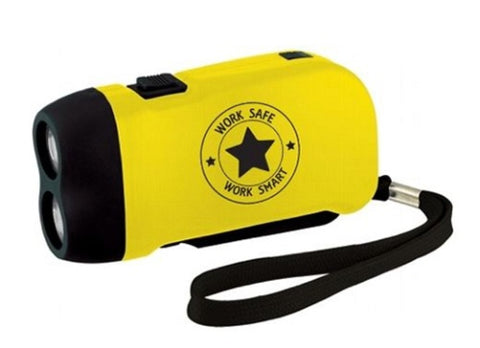 Hand Powered Flashlight w/Work Safe Logo - #403026