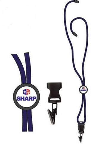 Braided Lanyard w/ Round Slider SHARP Logo - #403091