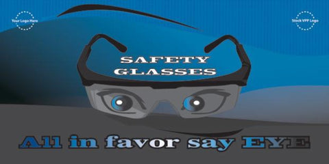 Safety Glasses Banner  - #403378B