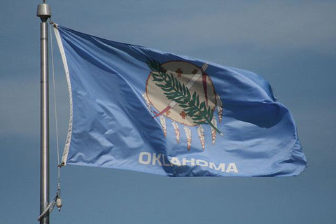 Oklahoma Outdoor State Flag - #402826