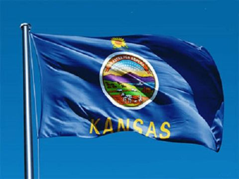 Kansas Outdoor State Flag - #402806
