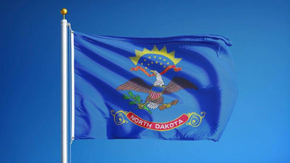 North Dakota Outdoor State Flag - #402824